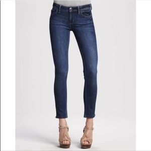 DL1961 Anfle Mid-Rise Skinny Ankle Dark Wash Jeans